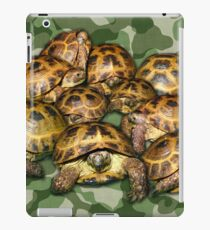 Greek Tortoise Group on Green Camo iPad Case/Skin