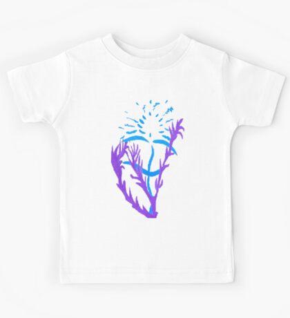 Blue & Purple Flowers Kids Clothes