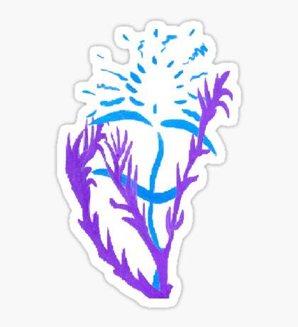 Blue & Purple Flowers Sticker