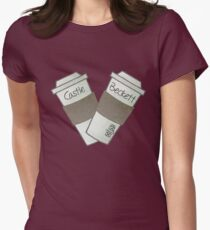 coffee heart Women's Fitted T-Shirt