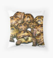 Greek Tortoise Group Throw Pillow