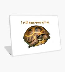 Tortoise - I still need more coffee Laptop Skin