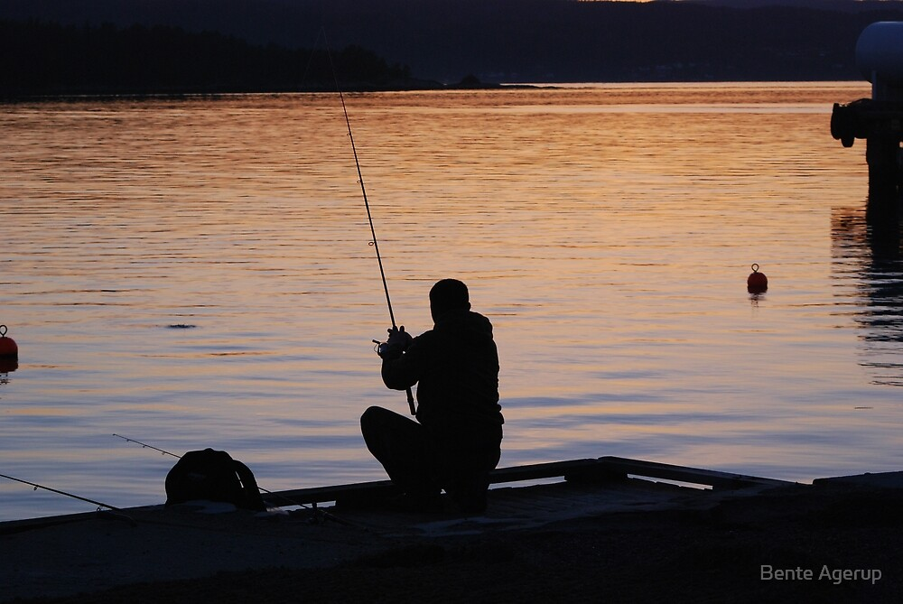 Fishing in the Oslo Fjord by Bente Agerup