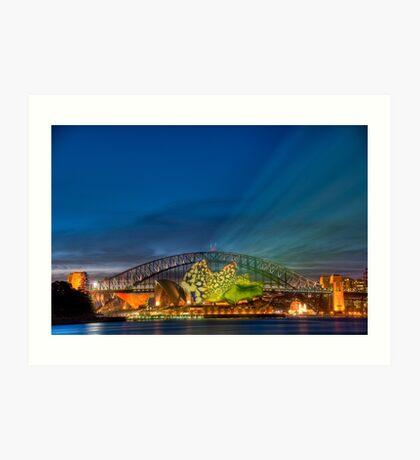 Vivid Sunset - Sydney Opera House and Harbour Bridge Art Print