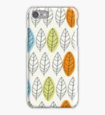 Leaf Repeat Pattern iPhone Case/Skin