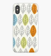 Leaf Repeat Pattern iPhone Case/Skin