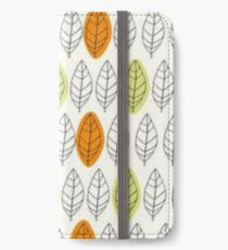 Leaf Repeat Pattern iPhone Wallet/Case/Skin