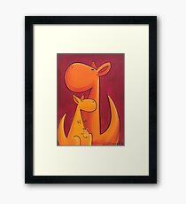 Splatter Mob (Kangaroos) Framed Print