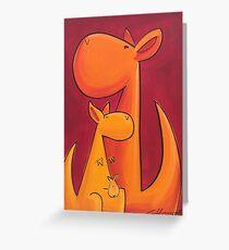 Splatter Mob (Kangaroos) Greeting Card