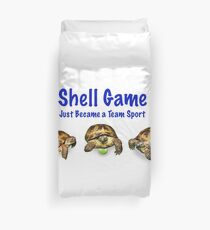 Tortoises Playing the Shell Game Duvet Cover