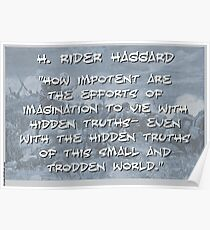 How Impotent Are The Efforts - Haggard Poster