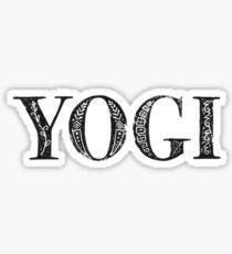 Serif Stamp Type - Yogi Sticker