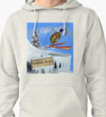 Skiing Tortoise Slope Pullover Hoodie