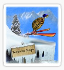 Skiing Tortoise Slope Sticker