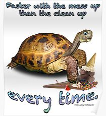 Tortoise with Ice Cream Cone Poster