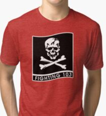 "Strike Fighter Squadron 103 ""the Jolly Rogers"" - US Navy Tri-blend T-Shirt"
