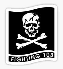 "Strike Fighter Squadron 103 ""the Jolly Rogers"" - US Navy Sticker"