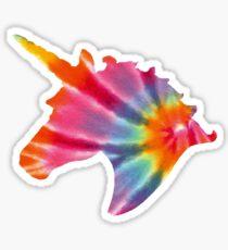 delta phi epsilon tie-dye unicorn Sticker