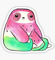 Watermelon Watercolor Sloth Sticker