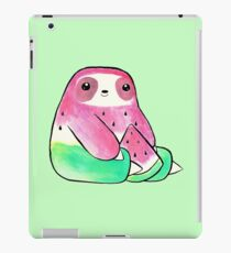 Wassermelonen-Aquarell-Faultier iPad-Hülle & Klebefolie