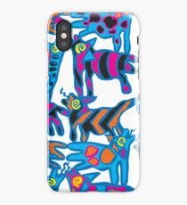 Colorful Abstract Coyote Art Duvet Cover iPhone Case