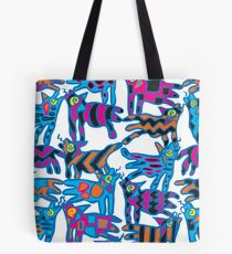 Colorful Abstract Coyote Art Duvet Cover Tote Bag