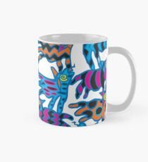 Colorful Abstract Coyote Art Duvet Cover Mug