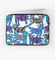 Colorful Abstract Coyote Art Duvet Cover Laptop Sleeve