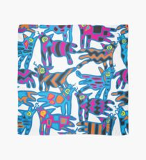 Colorful Abstract Coyote Art Duvet Cover Scarf