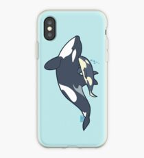Orca mother and calf iPhone Case