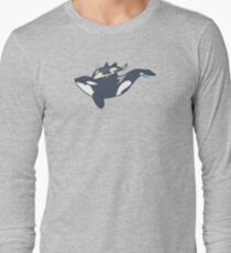 Orca mother and calf Long Sleeve T-Shirt