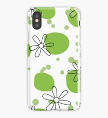 flowers on green spots iPhone Case