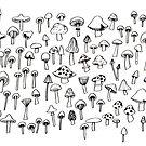 Little mushrooms / Petits champignons by Roxanne Bee
