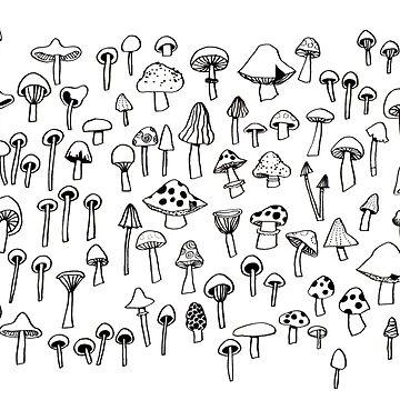Little mushrooms / Petits champignons by roxanneb