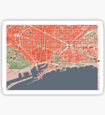 Barcelona city map classic Sticker