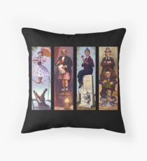 Haunted mansion all Characthers Throw Pillow