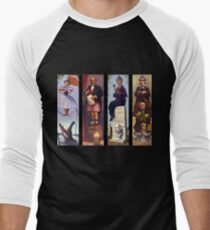 Haunted mansion all Characthers Men's Baseball ¾ T-Shirt