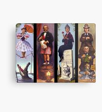 Haunted mansion all Characthers Metal Print