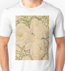 Alphonse Mucha - Peonies 1897  Garden, love, dress, fashion,spring, summer, peonies, pink, blossom, beauty T-Shirt