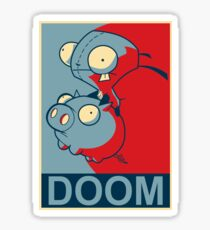 "GIR Doom- ""Hope"" Poster Parody Sticker"