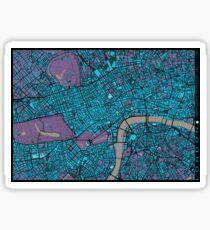 London city map twilight Sticker