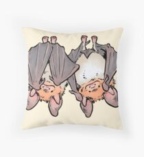 Greater mouse-eared bats Throw Pillow