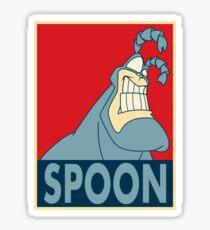 "The Tick SPOON- ""Hope"" Poster Parody Sticker"