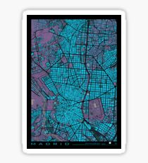 Madrid city map twilight Sticker