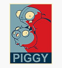"GIR Piggy- ""Hope"" Poster Parody Photographic Print"