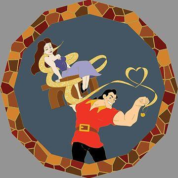 Vanessa & Gaston Villainous Love by ironman8bp