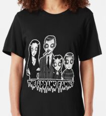 The Addams Family Portrait Slim Fit T-Shirt