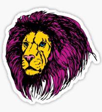 Lion Modern Pop Colors Sticker
