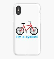 I am cyclist iPhone Case