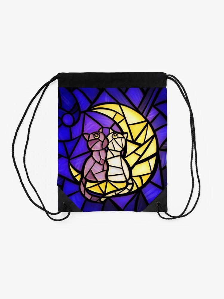 Vista alternativa de Mochila saco Luna Vidrios de colores